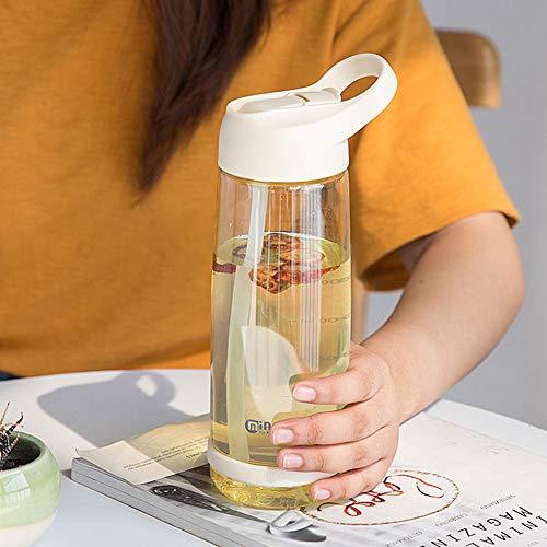 Mini Office Depot Kreative Strohhalm Tasse, große Kapazität Trinkflasche, tragbare BPA frei Sippy Cup für Kinder Kinder(850ML Light Yellow 2) (Baby Flasche Bier Trinken Kann)