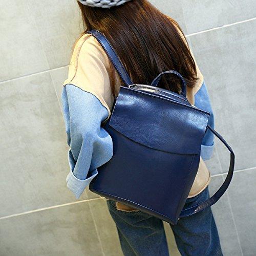 Le Donne Della Spalla Di Modo Di College Versione Coreana Del Sacchetto Dello Zaino Di Tendenza,Red-OneSize Blue
