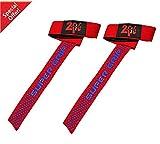 Super 2Fit imbottiti per sollevamento pesi, allenamento, palestra Supporto per polso con cinghia a mano, guanti, Rosso, Rosa, colore: nero