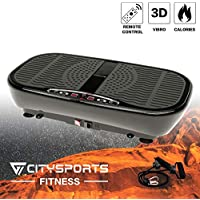 Fitness Plateforme Vibrante et Oscillante, Appareil d'entrainement de Puissance Vibrante 3D Slim, Télécommande et Bandes de Résistance, 4 Modes Automatiques, Réglage Vitesse 1-60, Moteur 400W