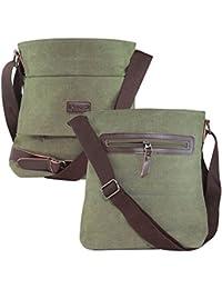 9b14be80f1 DMG Vintage Shoulder Canvas Messenger Crossbody 11 inch Bag Travel Rucksack   Best for College