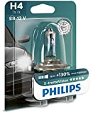 Philips X-tremeVision +130% H4 Scheinwerferlampe 12342XV+B1, Einzelblister