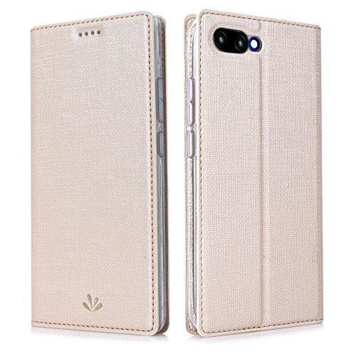 Eastcoo Kompatibel Huawei Honor 10 Hülle Flip Folio Wallet Leder Case Tasche Schutzhülle Handyhülle mit [Standfunktion][Magnetic Closure] für Huawei Honor 10 Smartphone(Honor 10,Golden) -