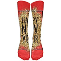 pigyear888 Long Dress Socks Colorful Happy New Year Gold Black Sport Comfortable Breathable Over-the-Calf Tube