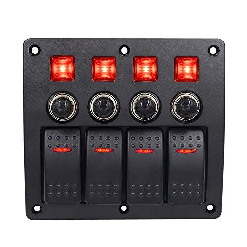 3PIN mit Licht 4 Position mit Objektiv-Kombination Panel-Schalter, Nebellicht Dach Licht Schalter 12-24V Yacht Raum Rad Boot Universal Modifikation Zubehör -