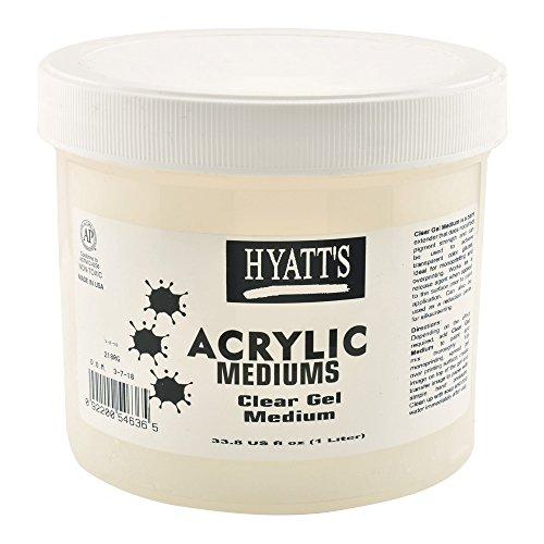 Hyatt's Acrylic Clear Gel Medium, 32 Ounce Bottle, 1 Each -