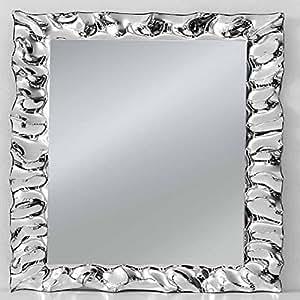 Specchio con cornice rettangolare colore argento stile - Specchio argento moderno ...
