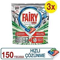 Fairy Platinum Plus 150 Yıkama Bulaşık Makinesi Deterjanı Kapsülü Hızlı Çözünme (50*3)