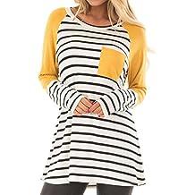 f5a7d263fd4 DAY8 Femme Vetement Chic Mode ete Haut Femme Grande Taille Top Femme  Rayures t-Shirt