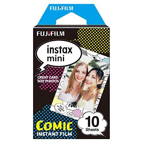 Fujifilm Instax Mini Instant Film, Comicstrip, Einzelpackung Polaroid Digital Photo Frames