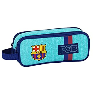 FC Barcelona–Estuche escolar doble turquesa FC Barcelona