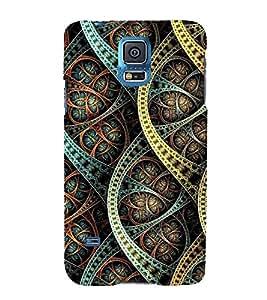 PrintVisa Flower Leafs Design 3D Hard Polycarbonate Designer Back Case Cover for Samsung Galaxy S5 :: Samsung Galaxy S5 G900I :: Samsung Galaxy S5 G900A G900F G900i G900M G900T G900W8 G900k