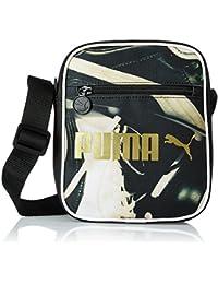 aaf0b5a70 Puma Umhängetasche Campus Portable Bolso Bandolera, Unisex,  Negro-Black/Football Graphic, 18 x 6 x 21 cm, 1.5…
