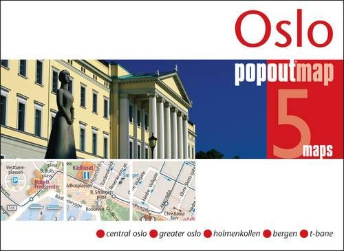 Oslo PopOut Map (Popout Maps) - handy pocket-size pop up map of Oslo including metro map por PopOut Maps