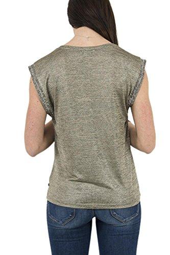 Le Temps des Cerises Damen T-Shirt Vert (Ecru antic Brass)