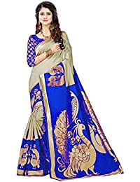 Sarees Designer Women's Bhagalpuri Art Silk Saree With Blouse Piece (Spl-Nilkanth Variyance)