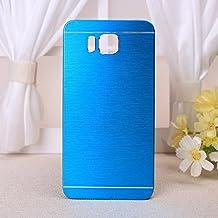 Ekinhui - Carcasa de metal cepillado duro para Samsung A310, metal, azul, Galaxy Alpha G850