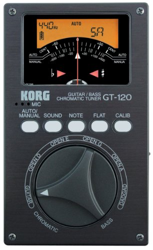Korg KOR GT120 RS - Afinador crómatico para guitarra y bajo (display LED)