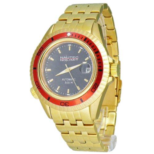 Nautec No Limit Watches Herren-Armbanduhr Shore Analog Automatik SH1 AT/GDGDRDBK