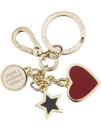 Tommy Hilfiger Heart and Stars Keyfob, Bolsa y Cartera para Hombre, Varios Colores (Multi), 5x3.5x11 cm (W x H x L)