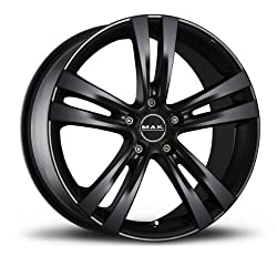 Mak Zenith. Matt Black 8x17 Et35 5x110 Hub Bore 65.1 Alloy Rims