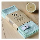 Bambus Mikrofaser Tücher Clean★Panda 3er Set Tuch Reinigung Putztuch, 3 Tücher à ca. 40x50cm