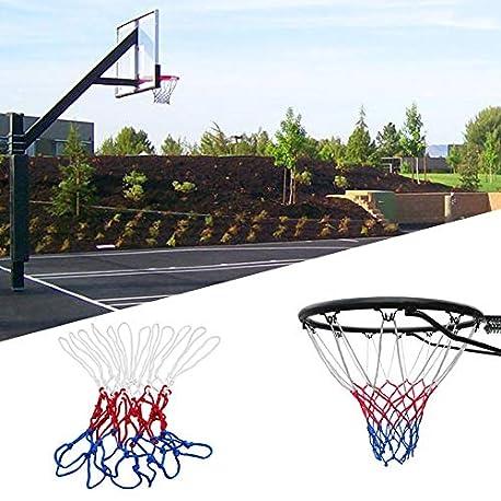 Pennyyoga Accesorios de Deportes al Aire Libre de Baloncesto de Nylon Duradero est ndar Goal Hoop Red Red White Blue Basket