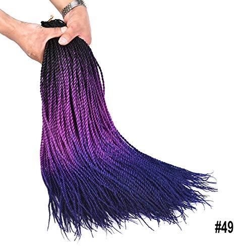 Beverly Johnson Synthetische Perücke (Kleine Farbige Senegalese Twist Crochet Geflechte 24Inch 30Strands synthetisches Haar für Braid Ombre Kanekalon Flechthaar, T1B / 4/30,24inches, 3packs)