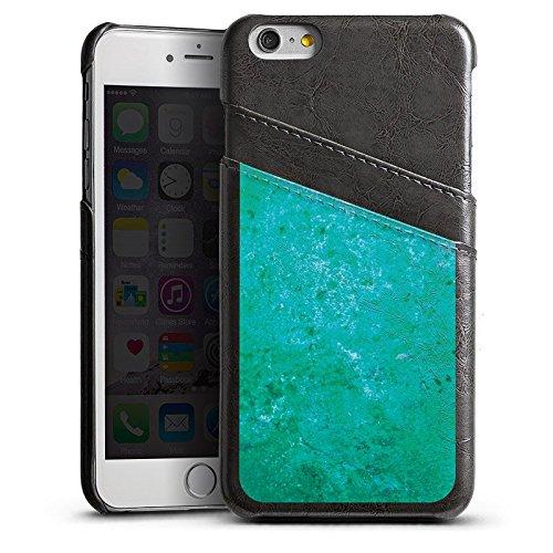 Apple iPhone 4 Housse Étui Silicone Coque Protection Rouille Structure Bleu rouille Étui en cuir gris