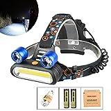 LED Kopflampe, TopTen Fan-Motive 3000Lumen Ultra Bright 3LED Scheinwerfer Head Light mit Akku für Camping Jagd Wandern und Outdoor Aktivitäten