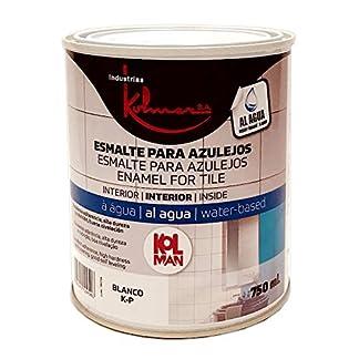 Kolmer – Esmalte acrílico para azulejos blanco 750 ml Kolman directo sobre el azulejo sin imprimación