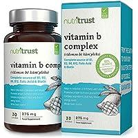B Complex Vitamins 275 mg Comprimidos de Nutritrust®:250% más de vitaminas B que otras principales Brands - Fórmula.