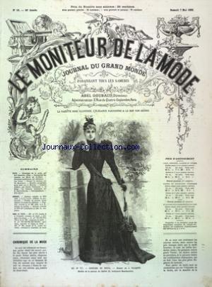 MONITEUR DE LA MODE (LE) [No 19] du 07/05/1892