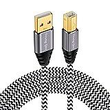 Câble d'imprimante Yeung Qee Haute Vitesse USB 2.0 A mâle vers Type B mâle Câble Scanner Compatible avec HP, Canon, Epson, Dell, Brother, Lexmark, Xerox, Samsung, etc.