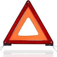 CARTO Warndreieck Euro mit Aufbewahrungsbox, ECE Zertifiziert - mit 2 Jahren Geld-zurück-Garantie - Sicherung von Unfall- und Gefahrenstellen
