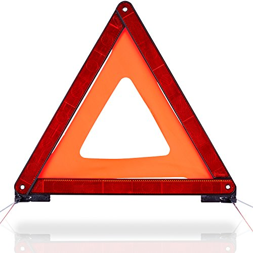 CARTO Warndreieck Euro mit Aufbewahrungsbox, ECE Zertifiziert | Sicherung von Unfall- und Gefahrenstellen