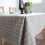 Nordeuropa Positive Gitter Tischdecke Baumwolle Leinen Tischdecke Couchtisch Wohnzimmer Schreibtisch Tischdecke Rechteckige Tischdecken,Gray,140*180Cm