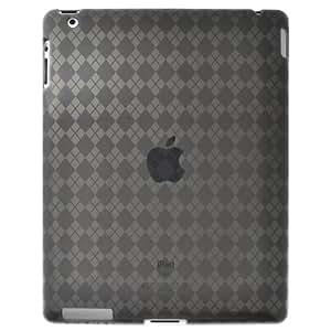 Amzer AMZ90784 Luxe Argyle High Gloss TPU Soft Gel Skin Case for Apple iPad 2 (Smoke Grey)