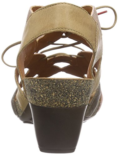 Think - Traudi Sandalen, Scarpe col tacco con cinturino a T Donna Marrone (Braun (CAPPUCINO/KOMBI 52))