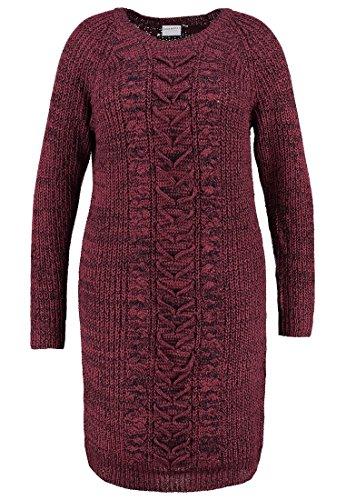 Junarose JRWYRNA Damen Kleid Strickkleid Gr.42 Farbe-maroon