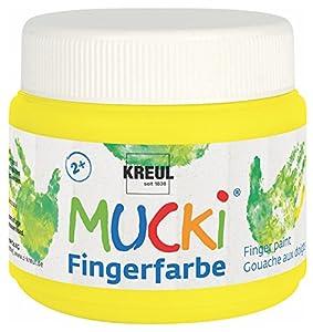 Mucki 23126-Dedos Color quietsch, 150ml, Amarillo
