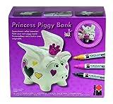 Marabu 012300088 Princess Piggy Bank Porcelain Painter Malset