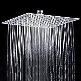 ETiME 20cm Quadratisch Einbauduschköpfe Luxus Regendusche Edelstahl Duschkopf verchorm Edelstahl SUS 304 Spiegeleffekt Hochglänzend
