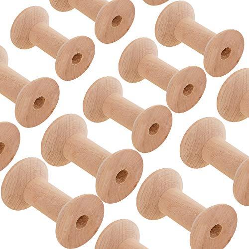 ulen Holz Leere Spule Gewinde Spulen Fadenspulen Holz Spule Holzspulen Spulenkopf Nähen Garnspulen Natürlichen Draht Weben Spulen Holz Farbe 47mm*31mm ()