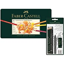 Faber-Castell Artista de 36lápices de colores en estuche de metal