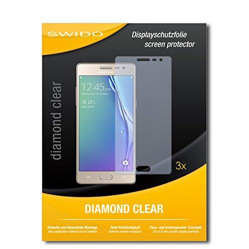 SWIDO 3 x Schutzfolie Samsung Z3 Bildschirmschutz Folie DiamondClear unsichtbar