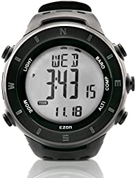 amazon co uk 40mm more wrist watches men watches ezon h011f11 multi functional hiking watch outdoor waterproof climbing watch compass barometer