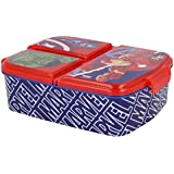 Sandwicheras con 3 Compartimentos para niños - lonchera Infantil - Porta merienda - Fiambrera Decorada (Avengers 1)