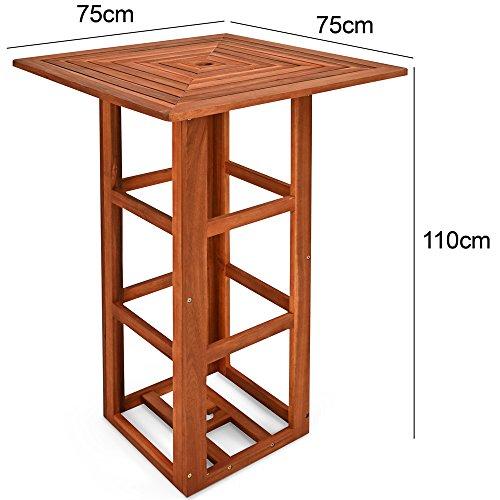 stehtisch aus akazienholz mit 5cm schirmloch bistrotisch bartisch party sonnenschirm beste. Black Bedroom Furniture Sets. Home Design Ideas