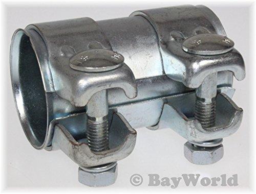 Rohrverbinder Doppelschelle Auspuff Abgasanlage Ø 50 mm x Länge 90 mm